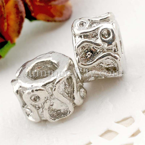 Center Threaded Spacer Swirl Beads