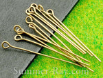 Antique Bronze Eye Pin Findings