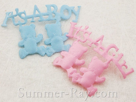 Fabric Embellishment - It's a Boy/Girl 100 pieces