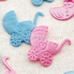 Fabric Embellishment - Pram 100 pieces