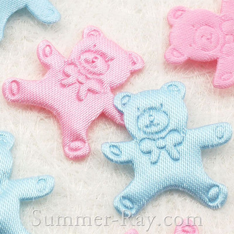 Fabric Embellishment - Teddy Bear 100 pieces