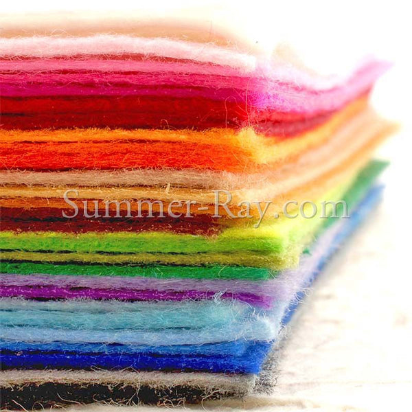 Felt Sheets 1mm - 10 pieces in Colors of Your Choice
