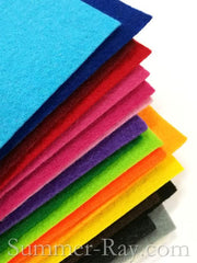 Felt Sheets 2mm - 8 pieces in Colors of Your Choice