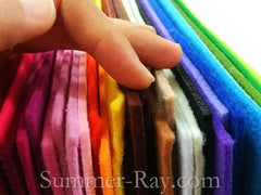 Felt Sheets 3mm - 6 pieces in Colors of Your Choice