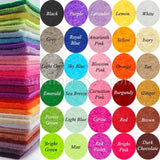 Felt colours available