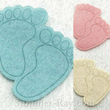 Felt Cut Out - Baby Feet 100 pieces