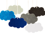 Mixed Color Acrylic Felt Cloud Laser Cutouts Room Decoration Dream Catcher DIY Craft