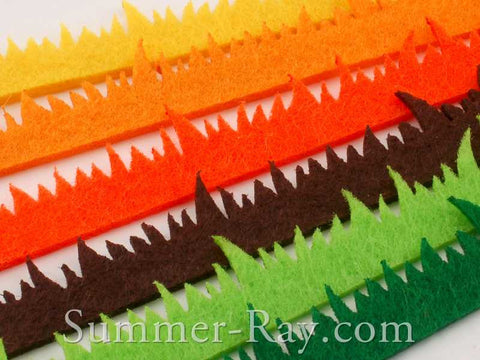 Die Cut Felt Grass