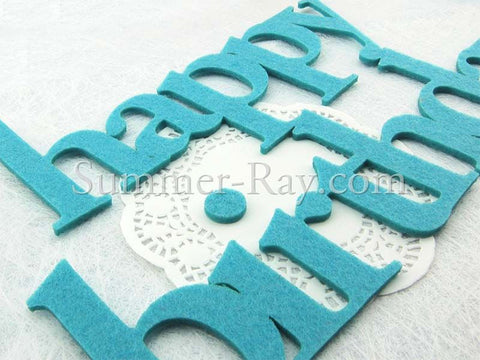Felt Cut Out Happy Birthday - 1 set