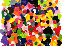 Felt Cut Out - Heart Multi Sizes and Colors 30g