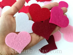 Felt Cut Out - Heart 100 pieces