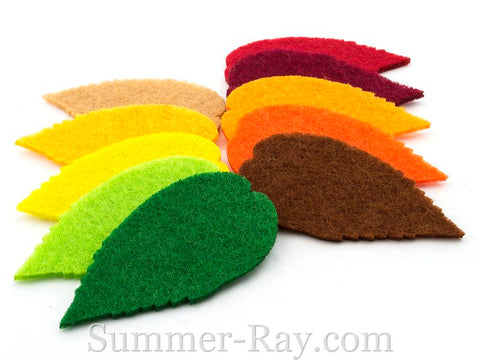 Felt Cut Out - Leaves 50 pieces