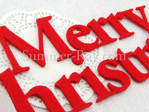 Felt Cut Out Merry Christmas - 1 set