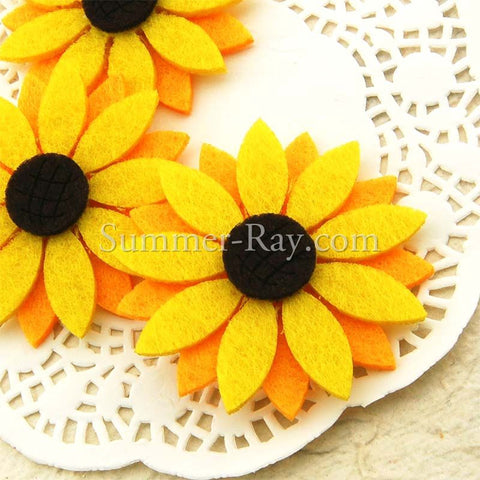 Sunflower Felt Cut Out