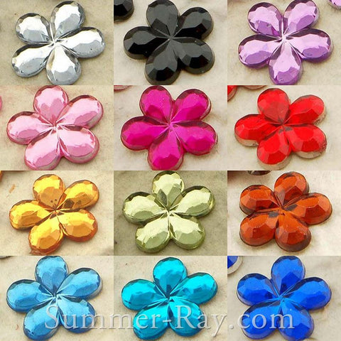 Jewels Flower 10mm - 200, 1000 or 2500 pieces
