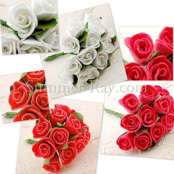 Miniature Foam Roses - 144 pieces
