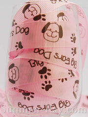 Big Ears Dog Printed Grosgrain Ribbon 16 mm - 5 or 10 yards