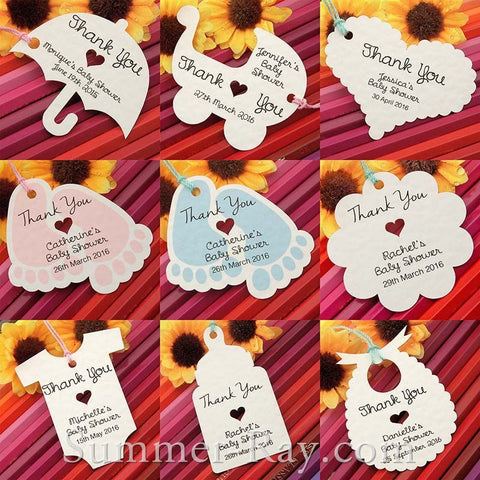 Personalized Baby Shower Tags - 20 pieces