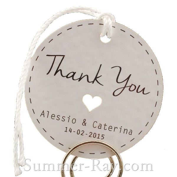 personalized white wedding favor tags thank you tags gift tags with thread
