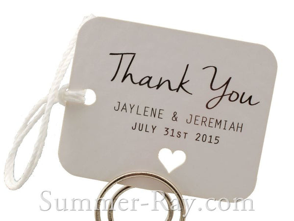 Personalized White Wedding Favor Tags/ Thank You Tags/ Gift Tags ...