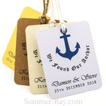Personalized We Found Our Anchor Wedding Favor Tags