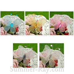 Stocking Butterflies 4 cm with Glitter - 50 pieces