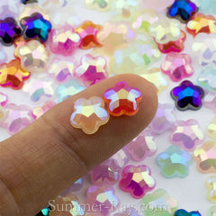 Rhinestones 8mm Glossy Pearl Flower - 100, 1000 or 2000 pieces
