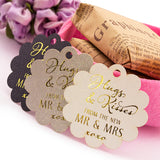 Gold Foil Hot Stamping Scallop Hugs & Kisses from The New Mr & Mrs Wedding Favor Gift