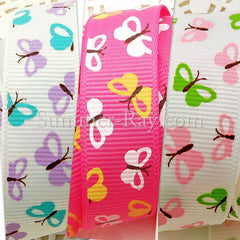 Butterfly Printed Grosgrain Ribbons