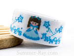 Little Princess Printed Grosgrain Ribbon 22 mm - 5 or 10 yards