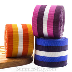Candy Stripes Printed Grosgrain Ribbon 10 mm 38 mm - 5, 10 or 25 yards