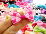 Grosgrain Ribbon Bow Mixed Color and Design - 100 pieces