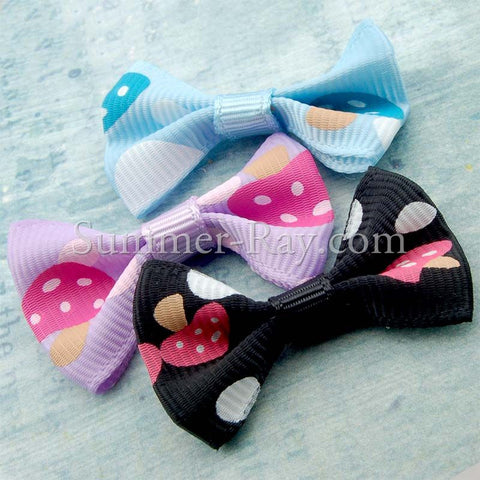 Grosgrain Ribbon Bow Mushroom - 100 pieces