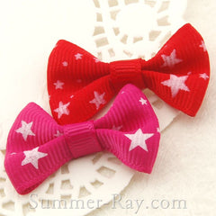 Grosgrain Ribbon Bow Stars - 100 pieces