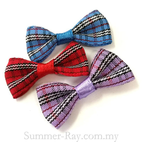Tartan Ribbon Bow - 100 pieces