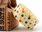 Multi Dots Printed Grosgrain Ribbon 10 mm 16 mm 38 mm - 5, 10 or 25 yards