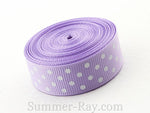 Swiss Dot Printed Grosgrain Ribbon 16 mm - 5, 10 or 25 yards