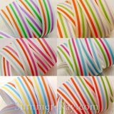 Sporty Stripes Printed Grosgrain Ribbon 10 mm 16 mm - 5, 10 or 25 yards