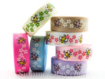 Buzzy Bees Printed Grosgrain Ribbon 10 mm 16 mm - 5, 10 or 25 yards