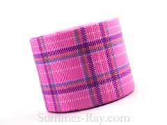 Tartan Printed Grosgrain Ribbon 10 mm, 16 mm, 25 mm, 38 mm - 5, 10 or 25 yards