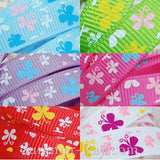 Butterfly Rabble Printed Grosgrain Ribbon 10 mm 16 mm 38 mm - 5, 10 or 25 yards