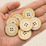 Personalized Wooden Button Product Tags Custom Made Buttons for Handmade Crochet Knitted Item