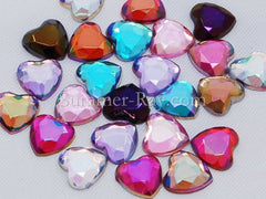 6 mm AB Heart Rhinestones