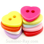Doll Buttons Heart (2eye) - 100 pieces