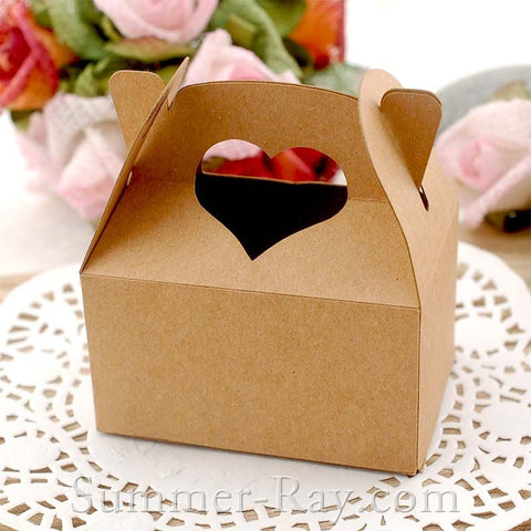 Heart Handle Bomboniere Favor Boxes