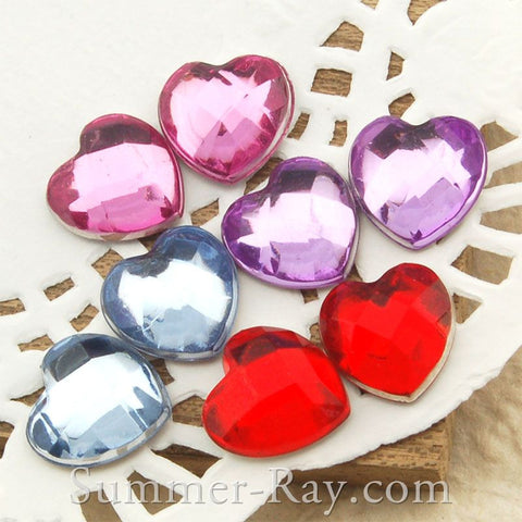10 mm Heart Rhinestones