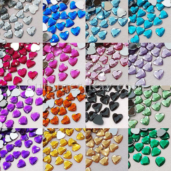 Jewels Heart 8mm - 250 or 5000 pieces