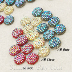 Rhinestones 8mm AB Icy - 100 pieces