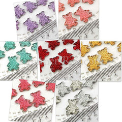 Rhinestones 13mm x 10mm Icy Teddy Bear - 50 or 500 pieces