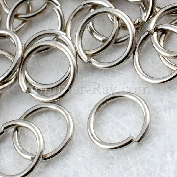 White Gold Plated Jump Ring